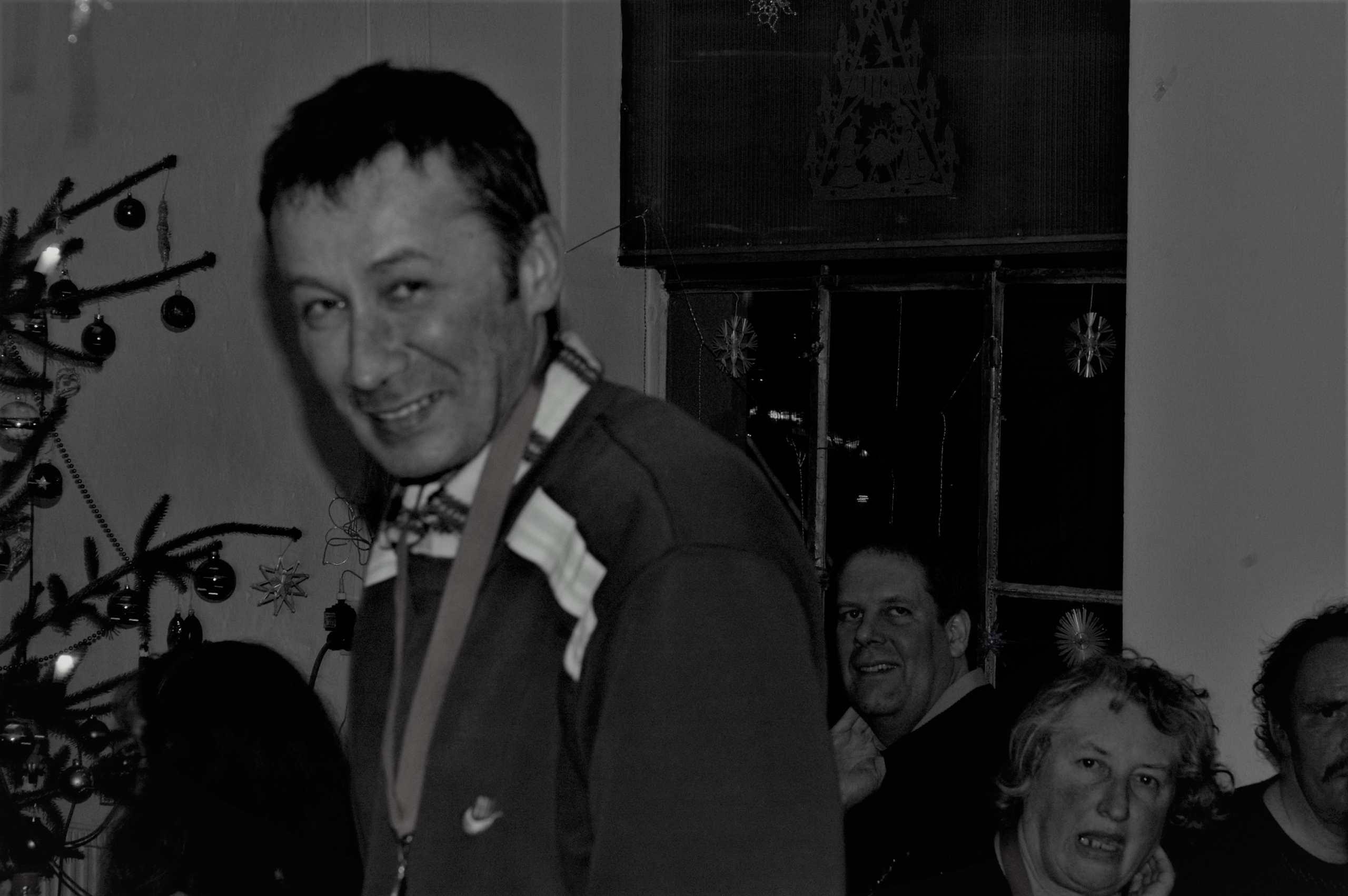 Hubert Doleschal bei der Trott-war-Weihnachtsfeier