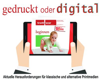 Fotomontage Trott-war-Zeitung in einem Bildschirm