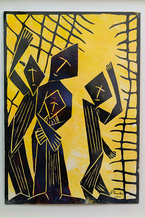Ein Holzdruck von Walter Hörnstein