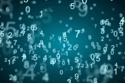 Blaue Zahlenwolke