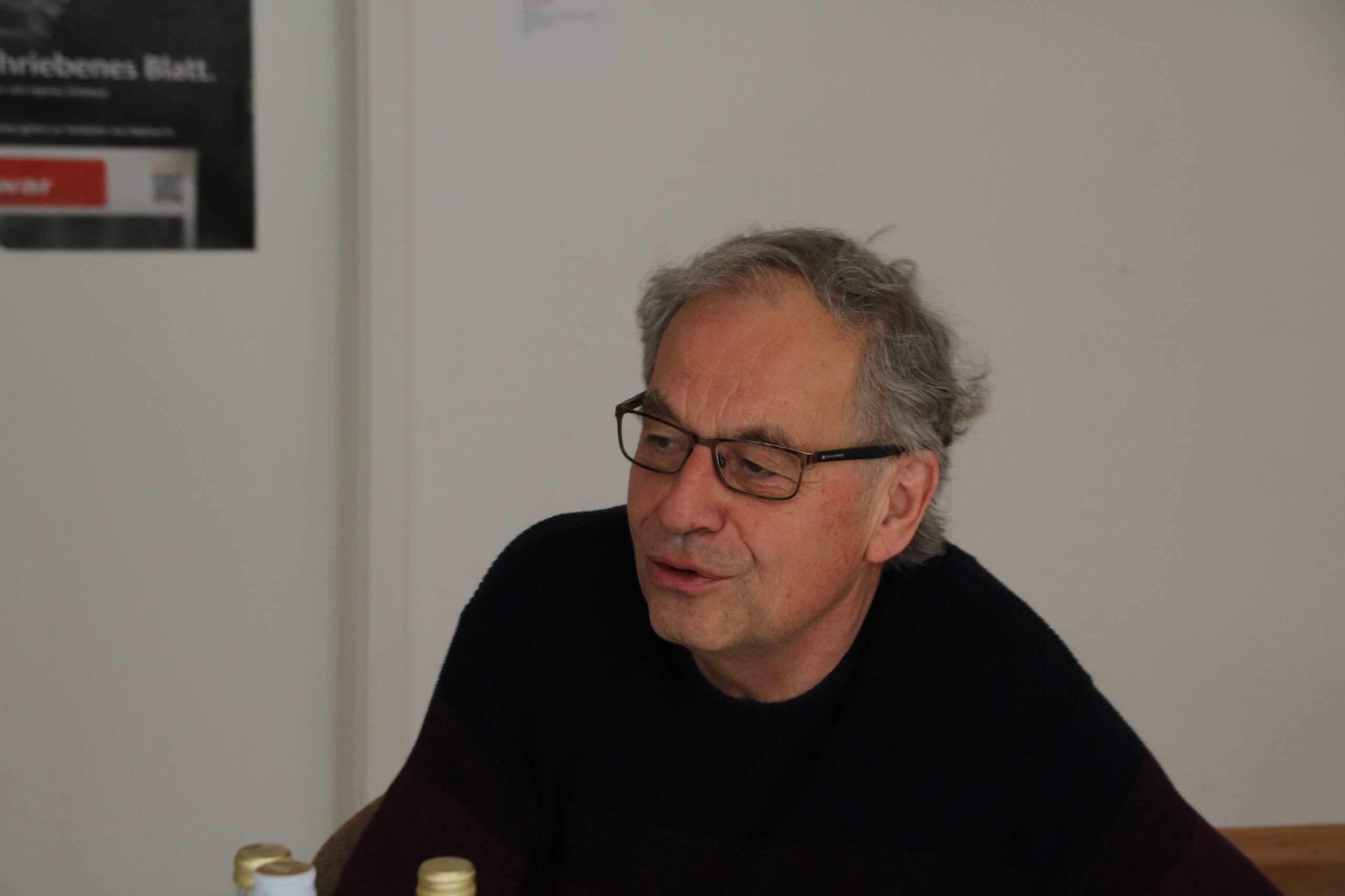 Dieter Reicherter zum Interview bei Trott-war