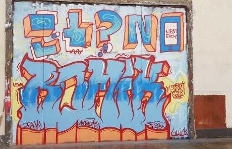 Graffiti im Bonatzbau Stuttgart - Secret Walls Gallery -