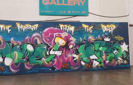 Graffiti in der Stuttgarter Bahnhofshalle - MORE und MESA - Secret Walls Gallery