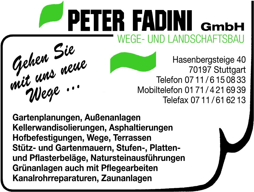 Anzeige Peter Fadini