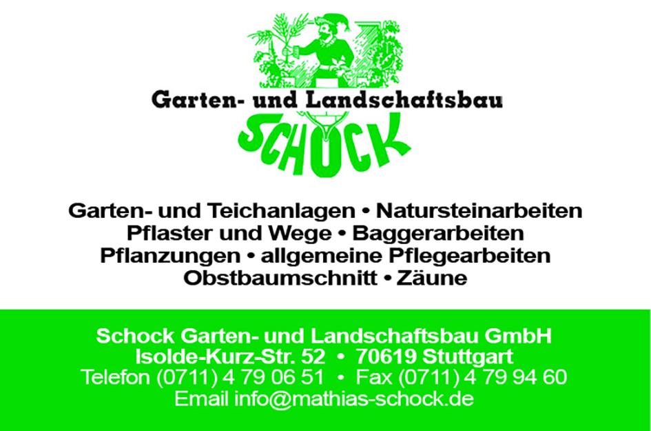 Anzeige Schock Gartenbau