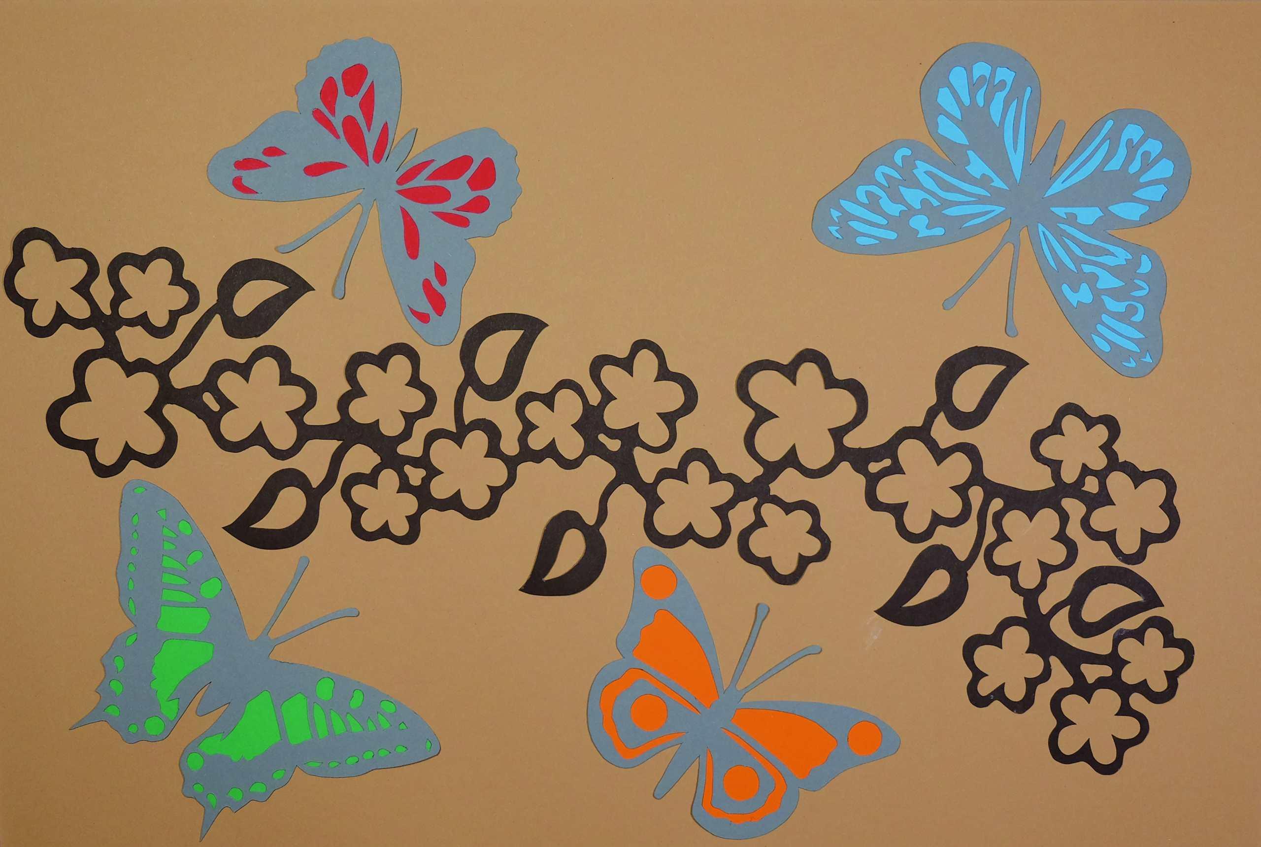 Scherenschnitt Schmetterlinge von Roland Steinborn