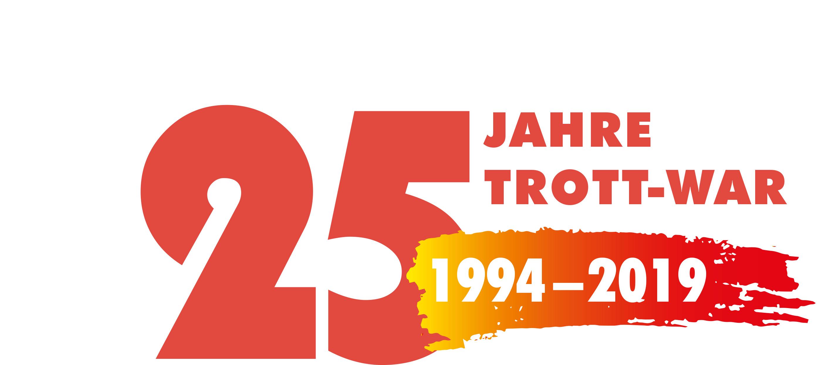 Logo 25 Jahre Trott-war 1994-2019