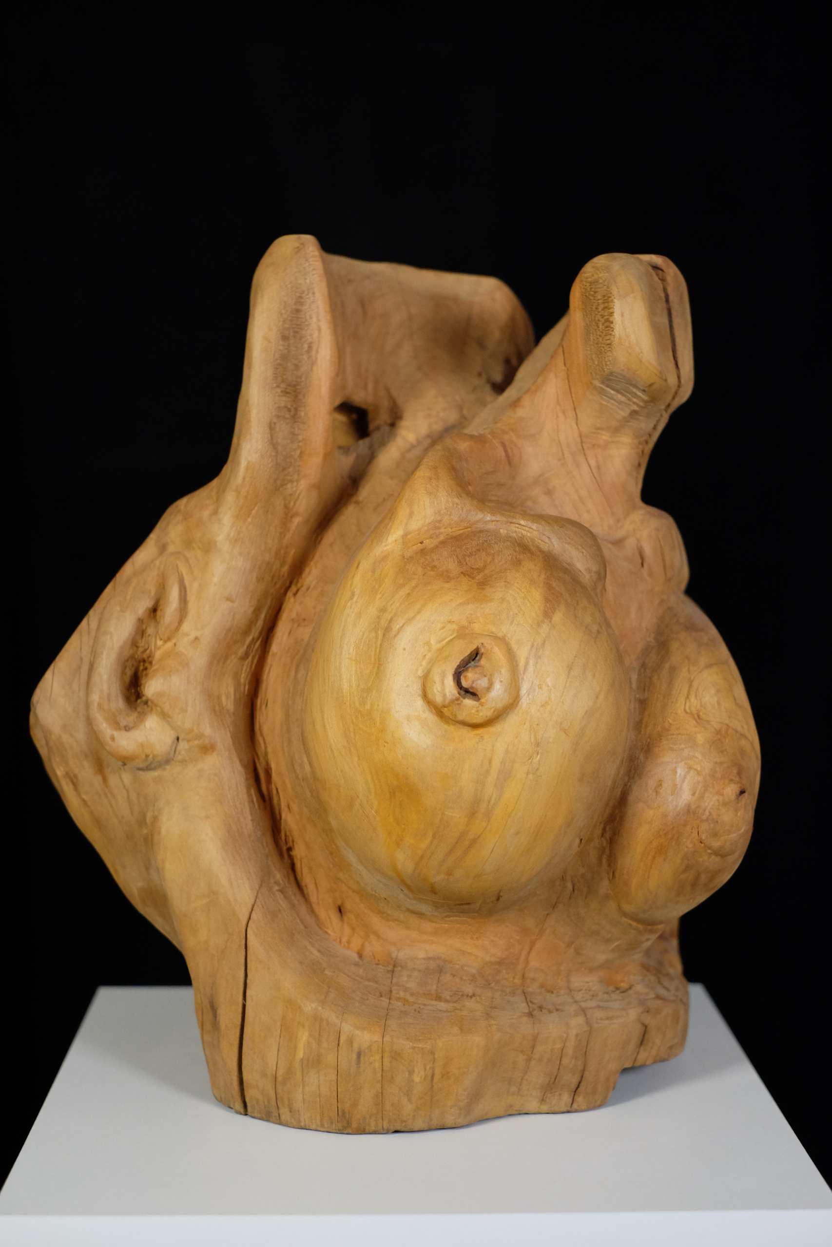 Apfelholz Skulptur Eva von Murat Taskin