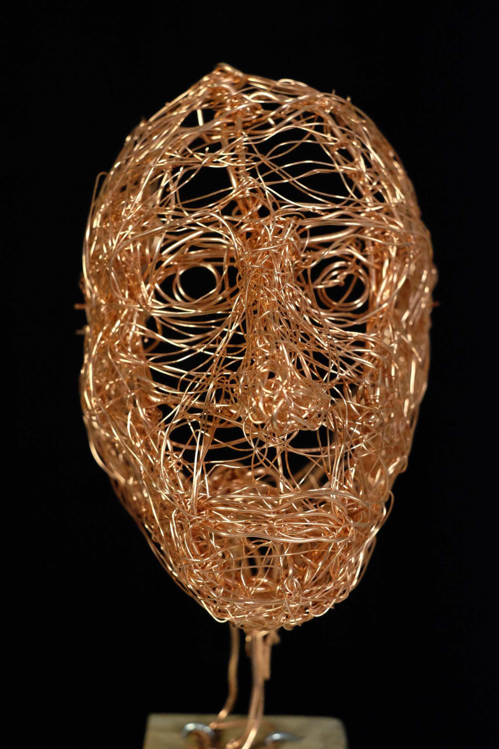 Drahtgeflecht Maske von Murat Taskin