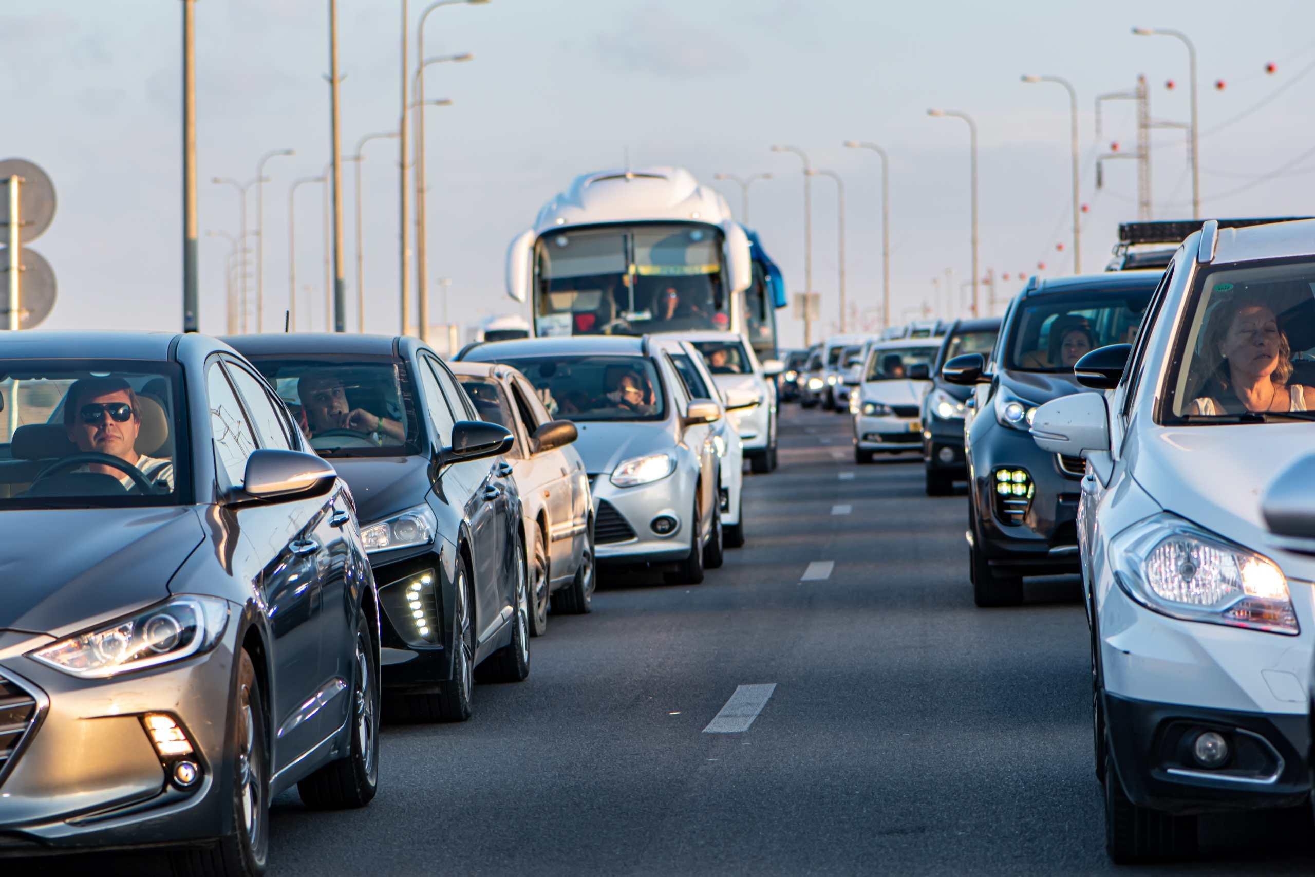Bild eines Staus auf der Autobahn