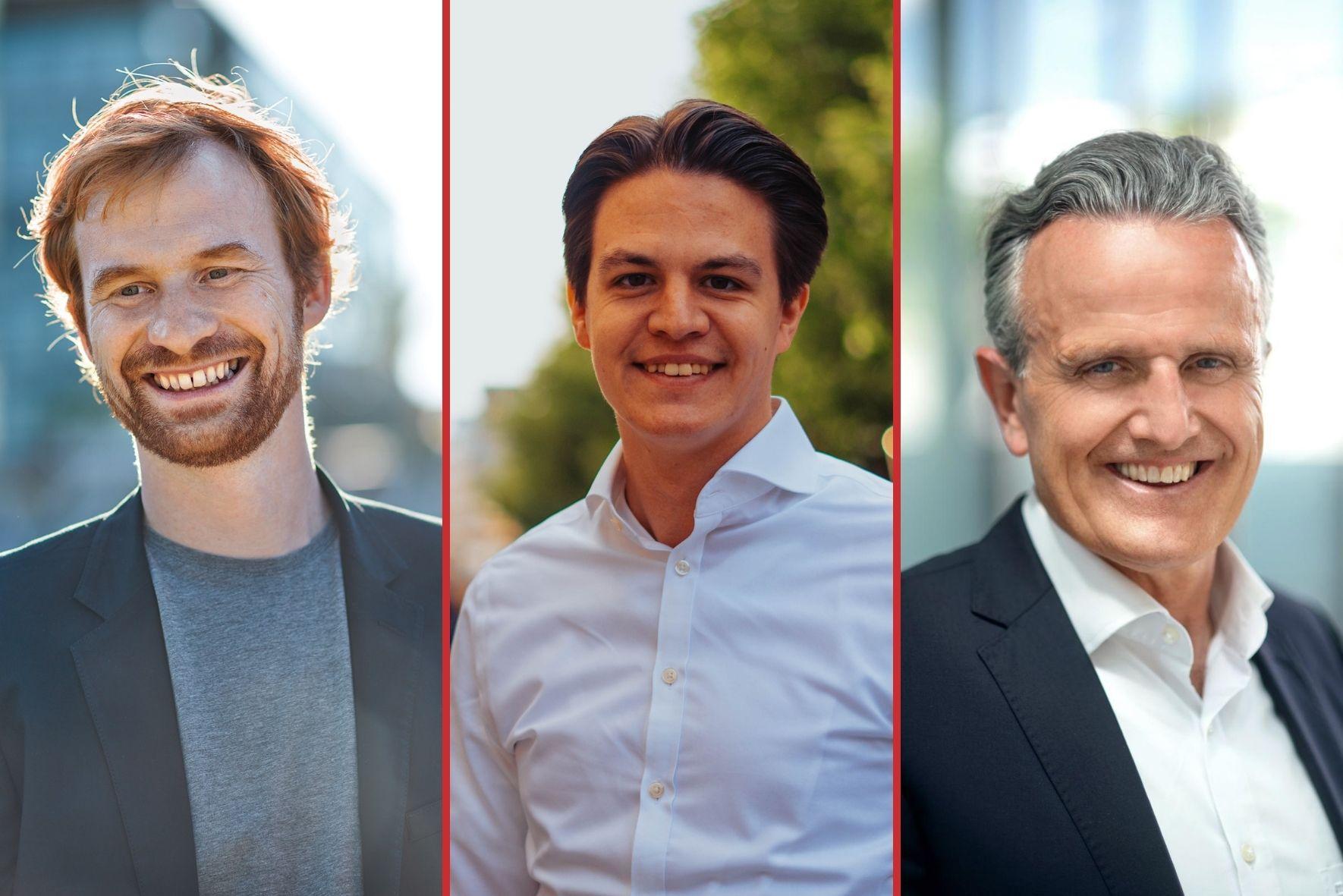 Die verbliebenen Kandidaten Hannes Rockenbauch, Marian Schreier und Frank Nopper
